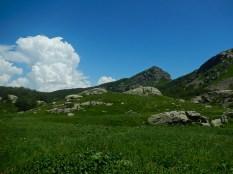 La vallecola che porta alle Capanne del Lago Nero