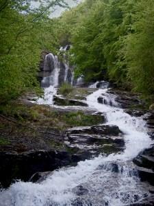le cascate del Doccione in tarda primavera