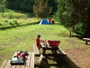 Si campeggia al bioparco di Frignoli