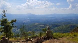 La vallata del Mugello dal Monte Altuzzo, osservata da un fante americano