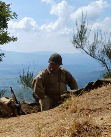 Soldato americano di presidio su Monte Altuzzo