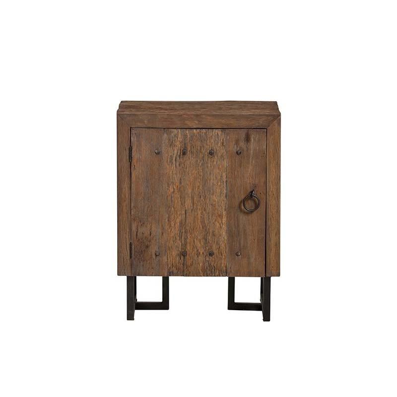 armoire 1 porte bois et metal 70 pura