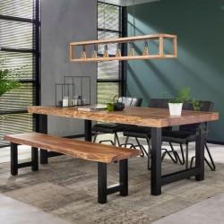 banc de table a manger forme tronc d arbre
