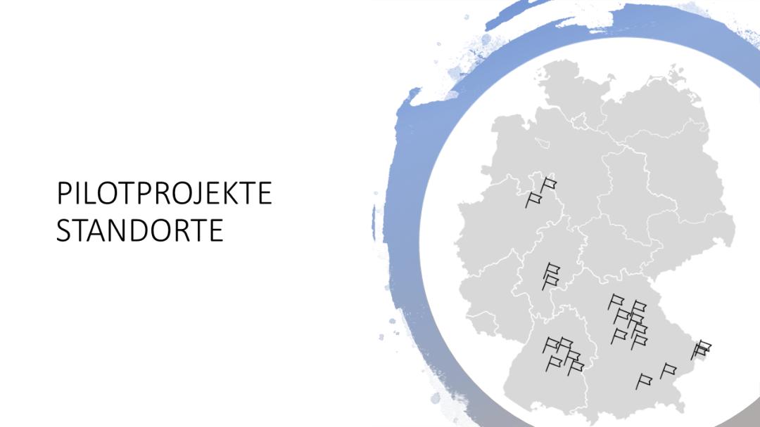 Ausgewählte Standorte unserer kommunalen Pilotprojekte