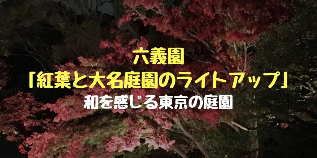 六義園「紅葉と大名庭園のライトアップ」の写真と感想!和を感じる東京の庭園でした