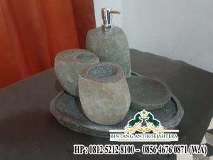 Tempat Sabun Batu Kali, Harga Batroom Set Batu Alam