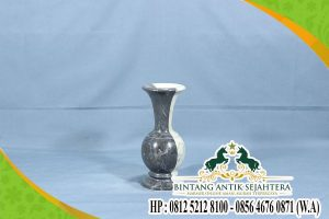 Contoh Kerajinan Vas Bunga Kombinasi Batu Alam