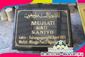 Contoh Nisan Minimalis Batu Alam