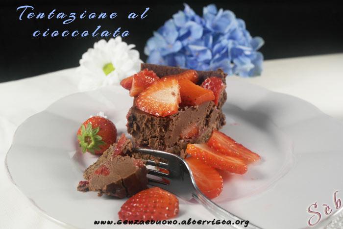 Crostata Tentazione al cioccolato e fragole