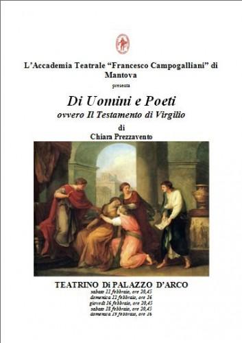 di uomini e poeti, eneide, virgilio, teatrino di palazzo d'arco, chiara prezzavento, accademia campogalliani