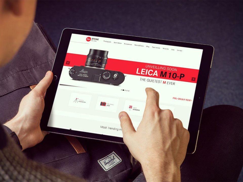Camera Retail Store Website