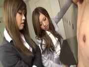 瀬名あゆむと中川美香がM男を痴女攻めしてるてこキ動画 高速