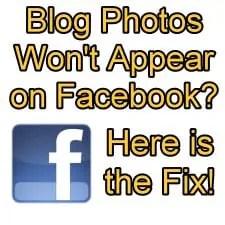 Blog Images won't appear on Facebook