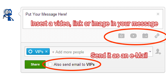 Google Plus - email it!
