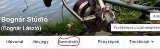 A Facebookon először az Ismerősök menüpontot keressük.