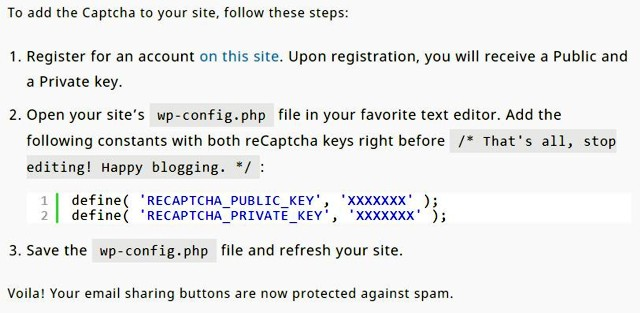 A Jetpack email küldő védelme captcha beépítéssel