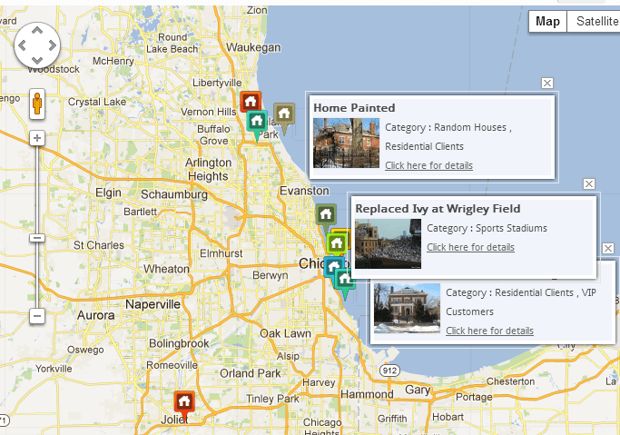 WP Map Folio for local businesses