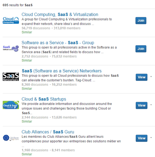 SaaS Related LinkedIn Groups