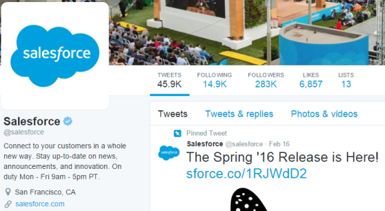 Salesforce Twitter