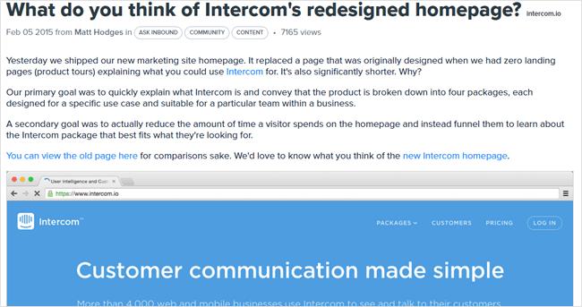 intercom inbound marketing