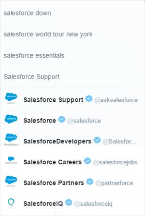 salesforce twitter accounts