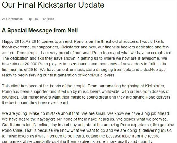 Final Kickstarter Update