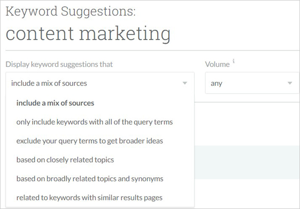 keyword suggestions moz
