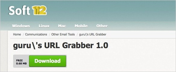 Guru's URL Grabber