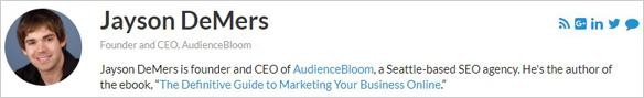 Jayson DeMers Entrepreneur.com Profile