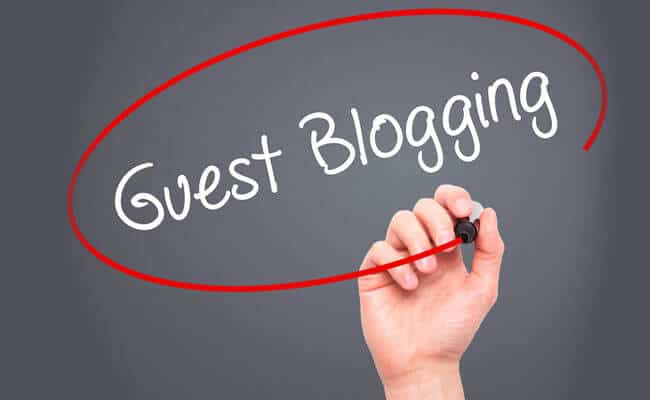 Ask for guest spots on outside blogs Image