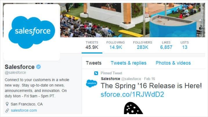 Salesforce Twitter