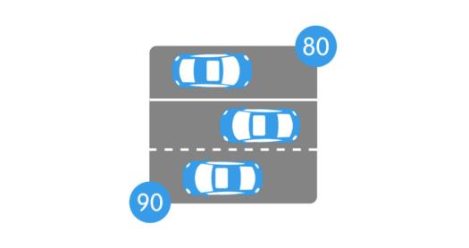 limitation de la vitesse à 80 km/h sur la voie en sens opposé uniquement