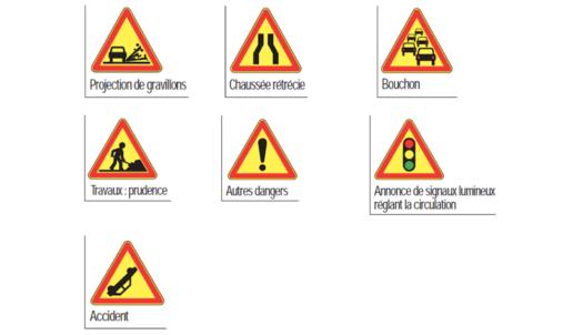 panneau temporaire signification d un panneau de signalisation jaune