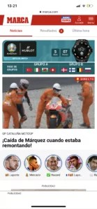 web and Marca.com stories