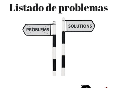 Lista de problemas para convertir en posibles negocios