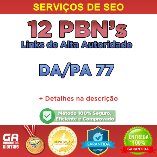 Comprar Backlinks 12 Pbn Alto Pa/da Dofollow Permanente Seo