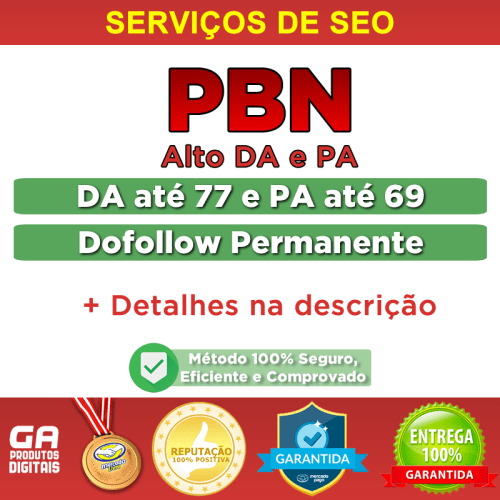 Comprar Backlinks PBN Alto DA/PA Dofollow Permanente Seo