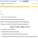 seo pitch email spam