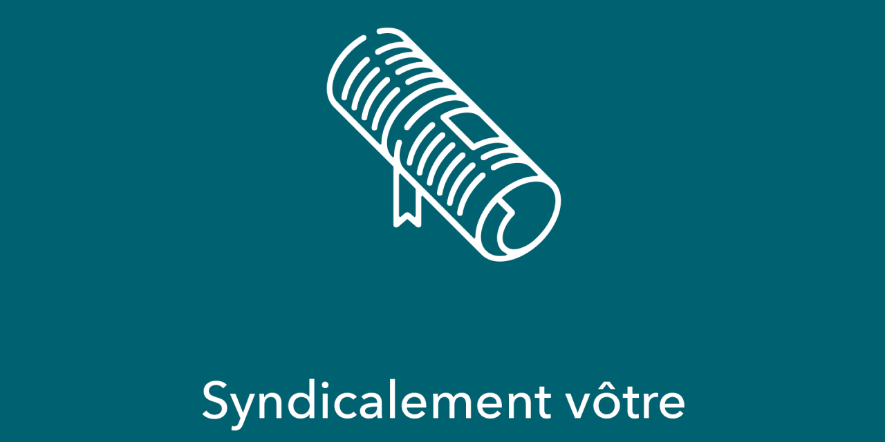 Syndicalement vôtre