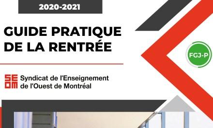 Guide pratique de la rentrée 2020-2021 – Préscolaire et primaire