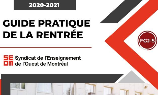 GUIDE PRATIQUE DE LA RENTRÉE 2020-2021 – Secondaire