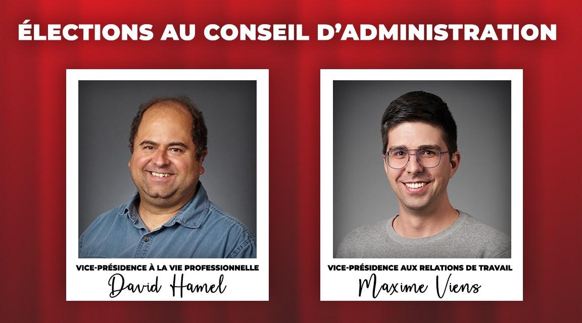 Maxime Viens et David Hamel élus