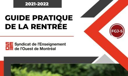 Guide pratique de la rentrée 2021-2022 | Secondaire