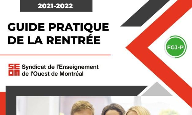 Guide pratique de la rentrée 2021-2022   Préscolaire et primaire