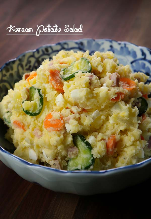 Korean Garlic Potato Salad Recipe