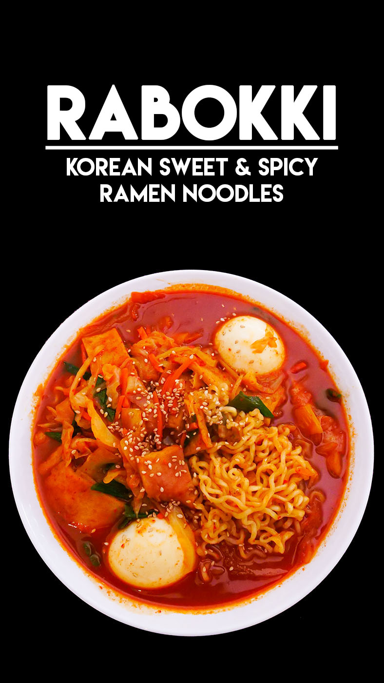 Rabokki Korean Sweet & Spicy Ramen Recipe & Video - Seonkyoung Longest