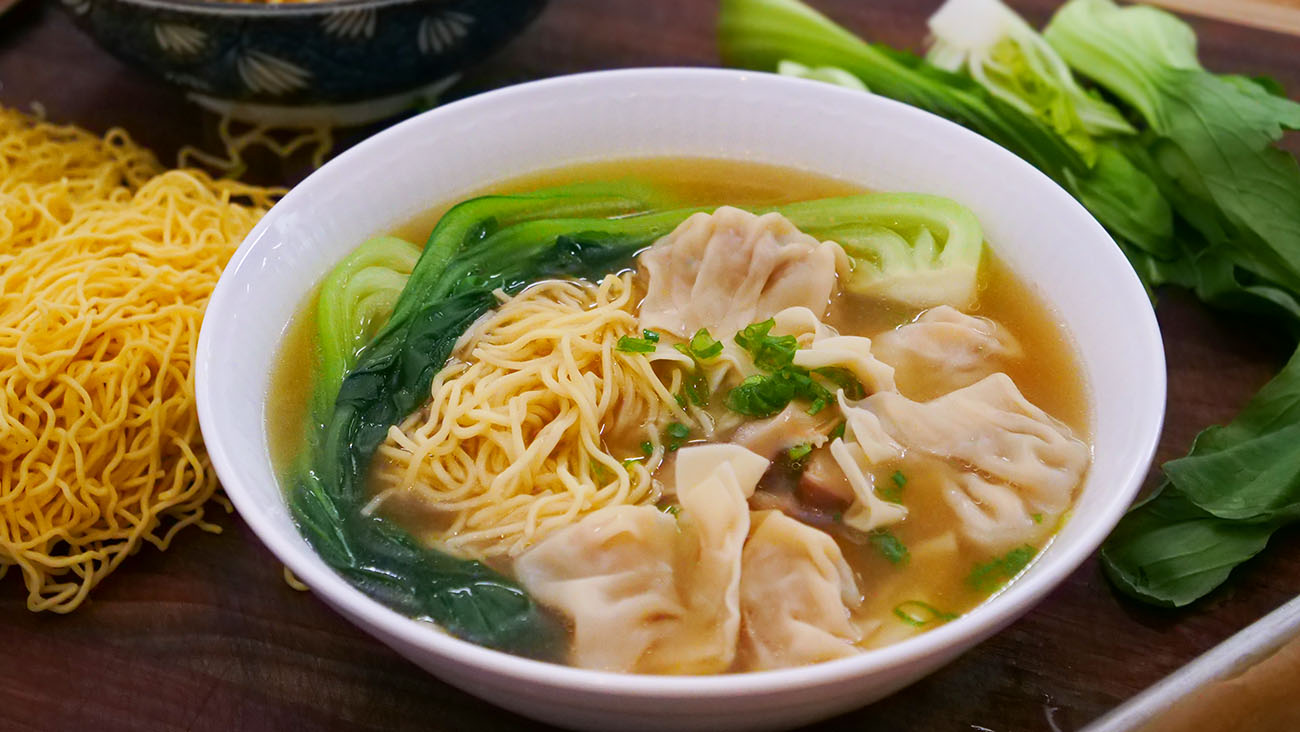 wonton noodle soup recipe  video  seonkyoung longest