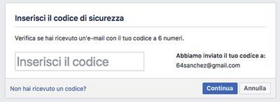 iscrizione facebook post