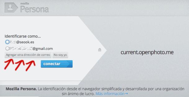 Añadir correo a Mozilla Persona
