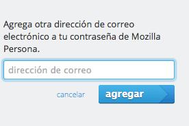 Nueva dirección de correo para Mozilla Persona